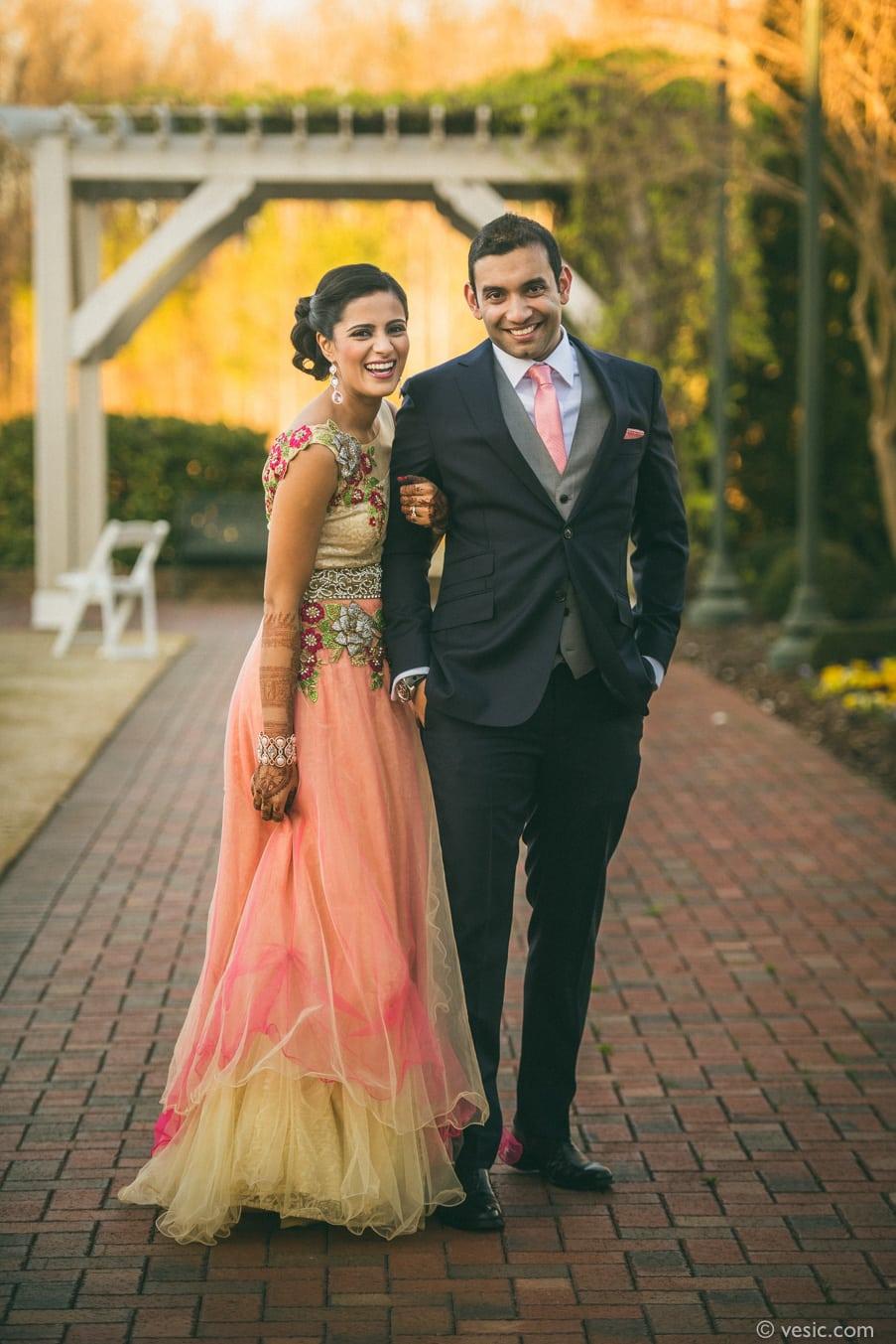 Indian couple sunset