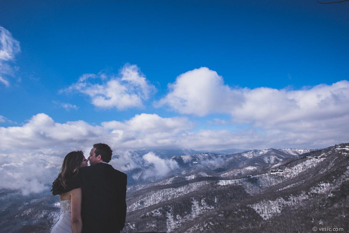 matthew  u0026 natasha  winter snow wedding photos in boone  north carolina