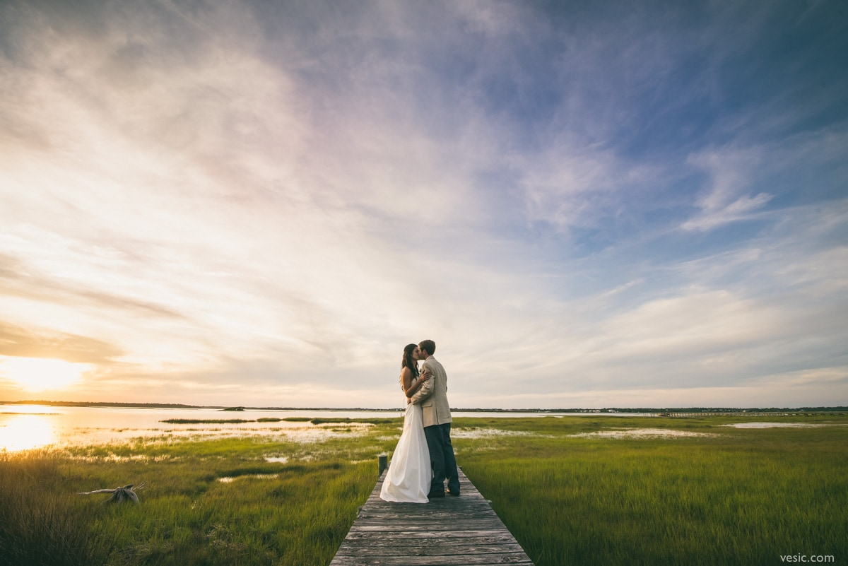 Wedding Photography at the Watson House in Emerald Isle, NC