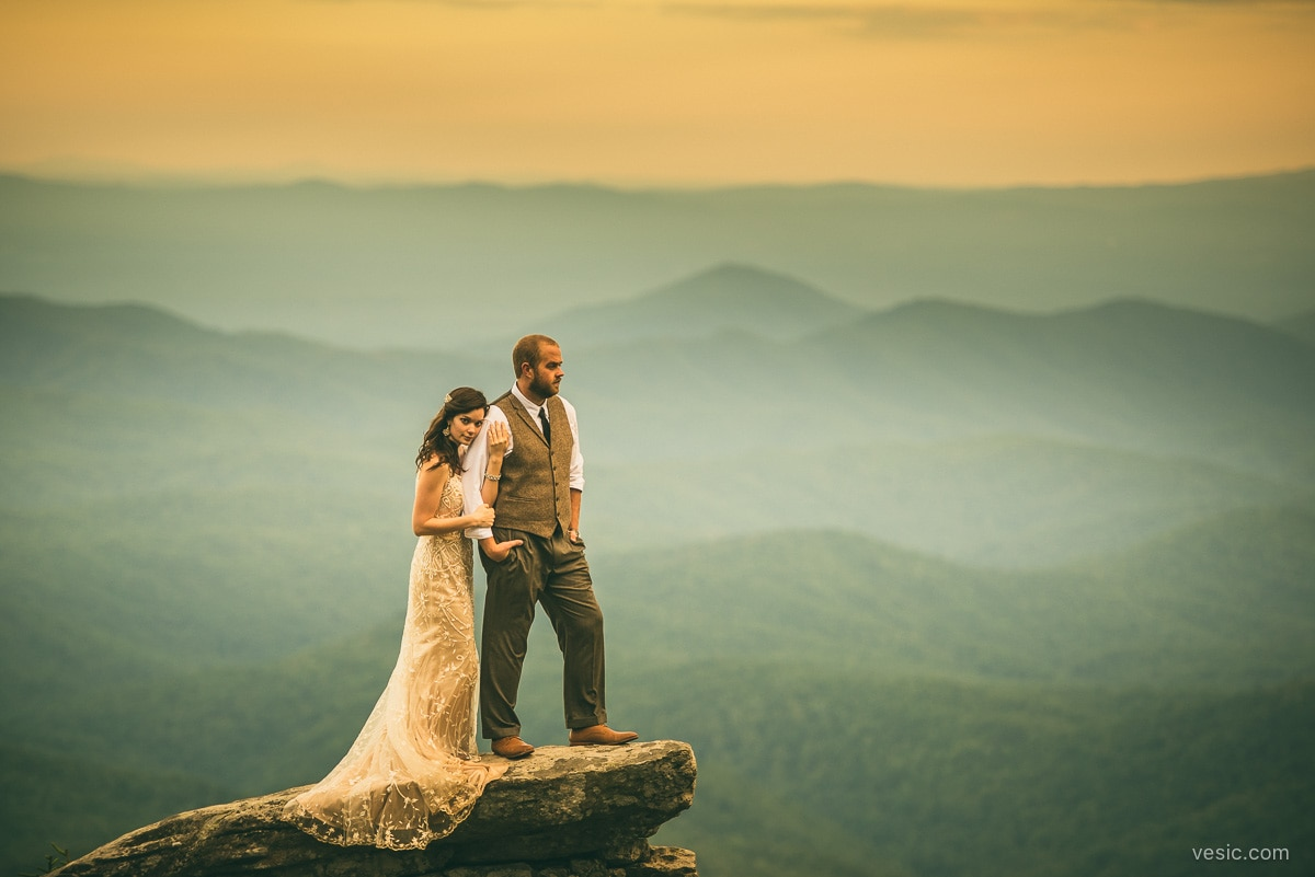mountain wedding photography in boone  nc