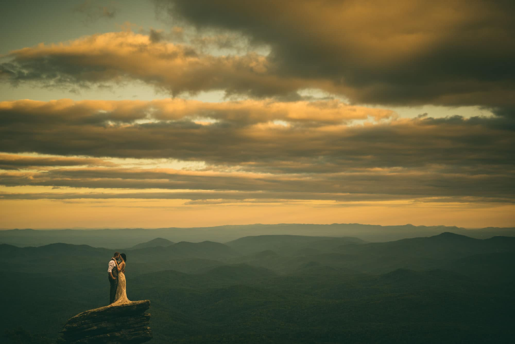 Sunset Boone NC Wedding Photography