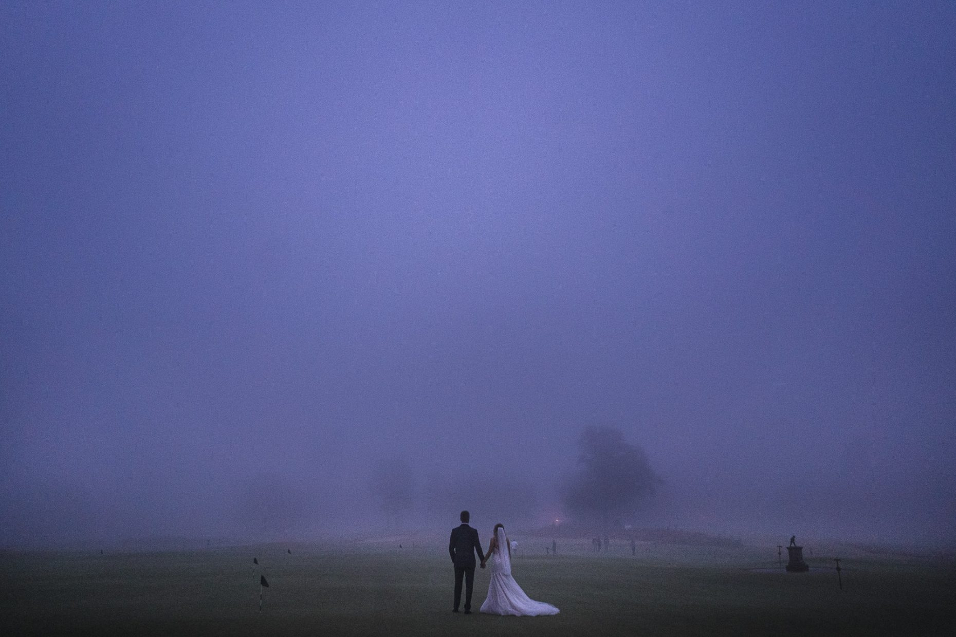 Foggy pinehurst wedding