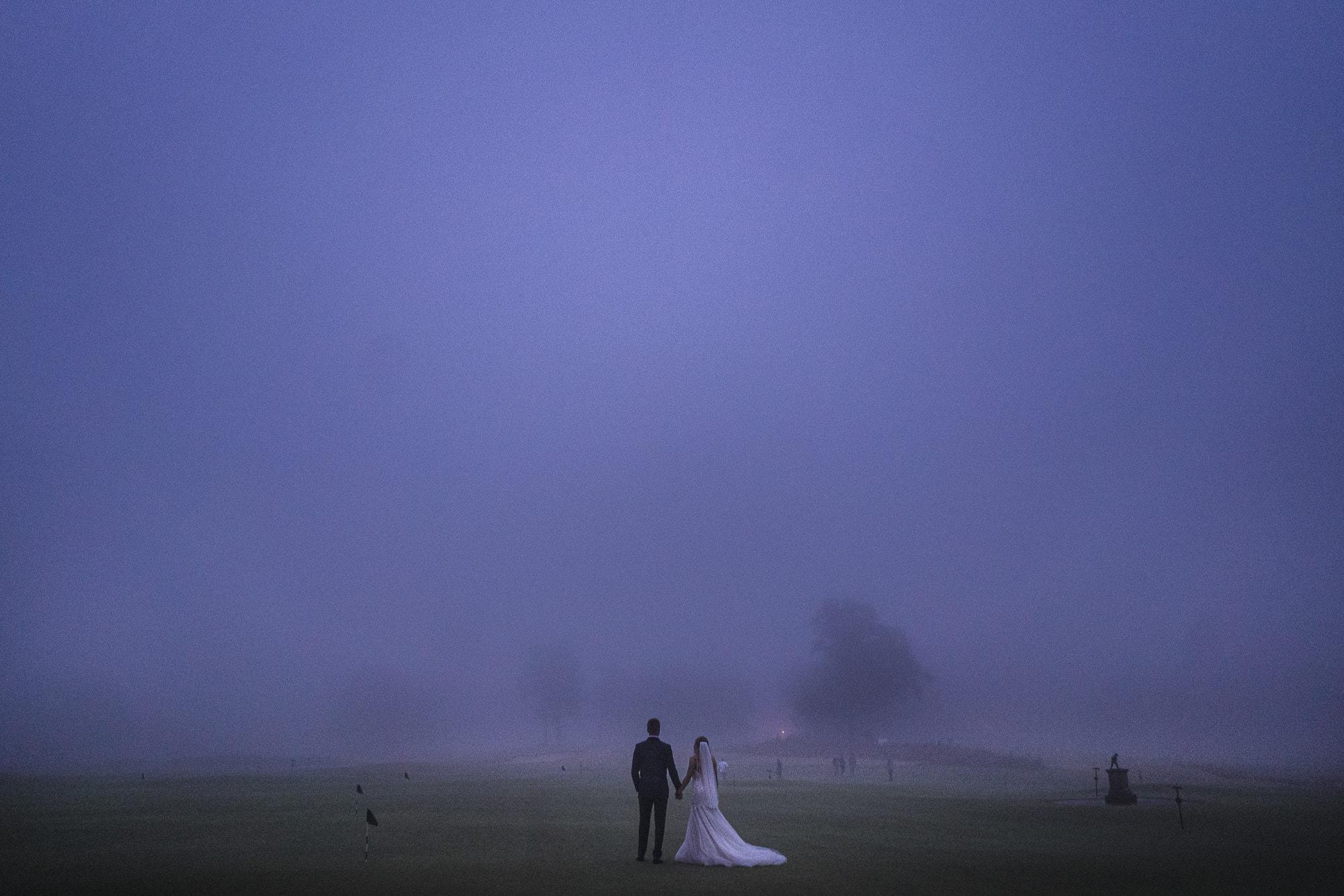 Foggy pinehurst wedding
