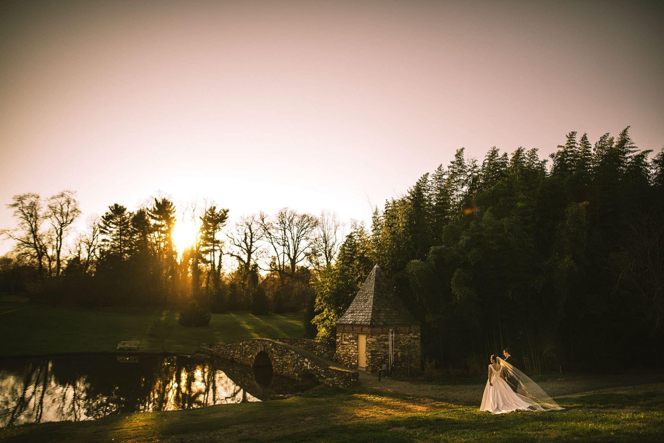 Wedding Sunset at Graylyn
