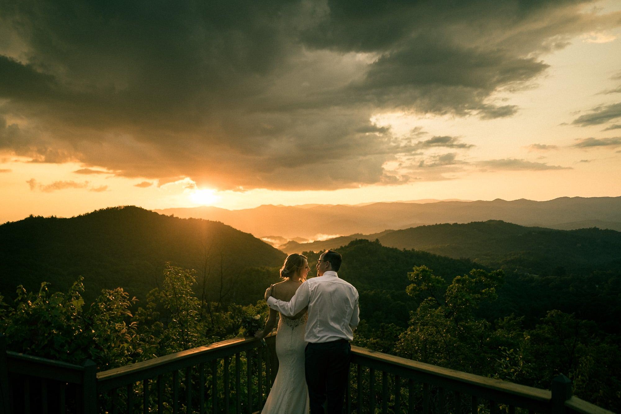 north carolina wedding mountain sunset hawkesdene